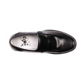 Hotel men work shoes soft leather high-action leather flat shoes