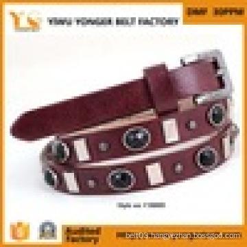 Tribal Dance Costume Dress Lady′s Brown Leather Belt
