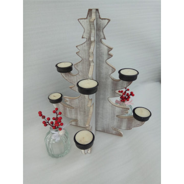 Romance Tree Shape Wooden Candle Holder Standing