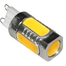 Lâmpada de poupança de energia Lâmpada LED COB G9 5W 2700k branco quente