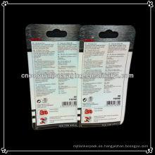 El paquete de la batería del teléfono móvil empaqueta / todo el bolso plástico del embalaje de la batería / el bolso de la batería con el asimiento del ziplock y del avión para el uso del juguete
