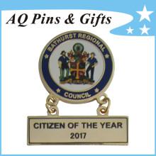 Metall Pin Badge mit verschiedenen Aufhänger als Typenschild (Badge-211)