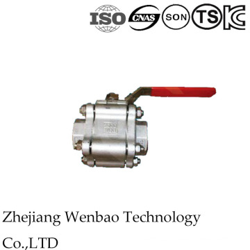 Válvula de bola de acero inoxidable de alta presión 3PC con tipo de soldadura a tope