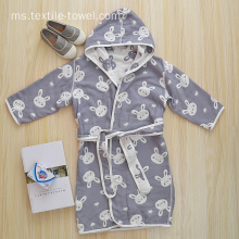 Cute Jubah Hooded Boys Jubah mandi Terry Cloth Jubah mandi