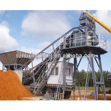 YHZS25 Hauling Mobile Concrete Mixing Plant, Concrete Batching Plant