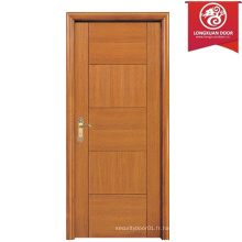 Porte arrière en bois de conception simple, portes simples pivotantes