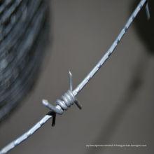 Fil barbelé simple galvanisé par électro