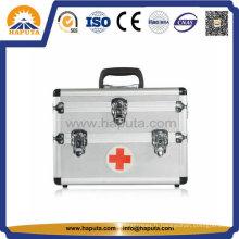 Boîte médicale de secourisme en aluminium avec 3 serrures principales (HM-2008)