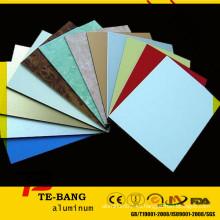 Hojas de aluminio anodizado coloreado material de la muestra del revestimiento de aluminio
