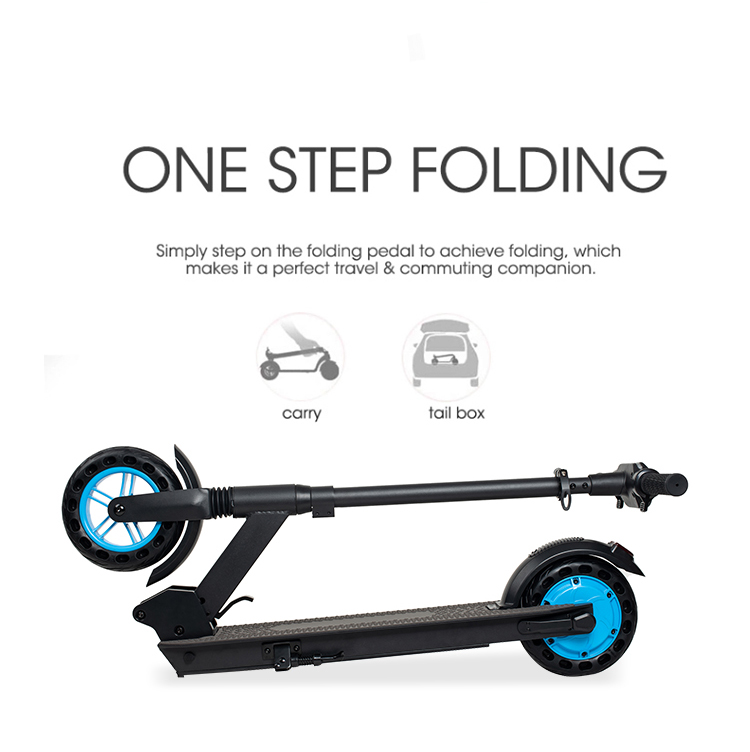 X8pro Electric Scooter Blue Details4