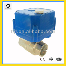 Robinet de commande électrique à 2 voies avec indicateur de position et poignée pour système d'économie d'eau