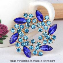 Wedding Dress Accessories Round Diamonds Crystal Rhinestones Brooch (TB-034 round)