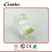 Buenos proveedores CAT5E / CAT6 Stranded Cable de red sólido 8P8C sin blindaje / blindado enchufe Gold rj 45