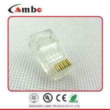 Хорошие поставщики CAT5E / CAT6 Многожильный сплошной сетевой кабель 8P8C неэкранированный / экранированный Позолоченный сплав rj 45
