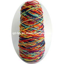 Cordel / cordón de cáñamo colorido arcoíris abigarrado para pulsera e ilustraciones
