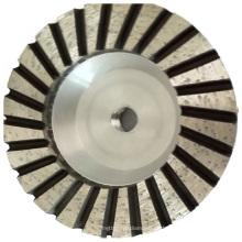 Base de aluminio recto diamante turbo moliendo la rueda de la Copa para el hormigón de piedra