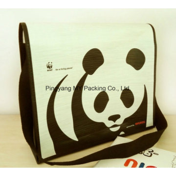 Recycle Eco Pattern Duffle PP Woven Shoulder Bag