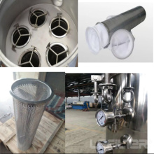 Stainless Steel Liquid Bag Filter For beverage industry