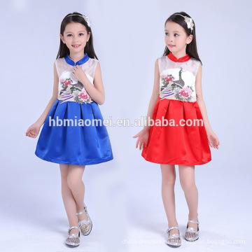 2017 новая партия мода девушка носить западное платье один шт наряды малыша девочки платье