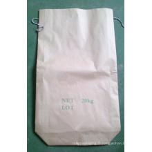 Sac en papier Kraft carré pour poudre de carbure de silicium 20kg
