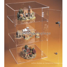 New Lockable Counter 3-Layer Pure Acrylic Toy Car Display Cases, modelo Trian Hot Wheels Display Case