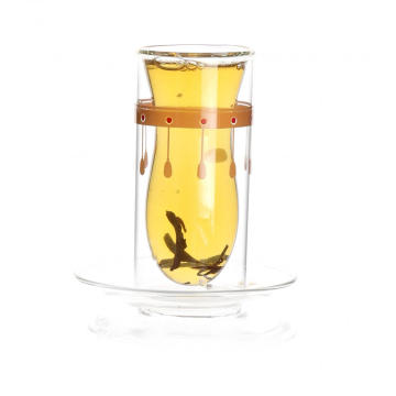 High borosilicate double wall glass cup
