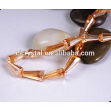 Perles de pagodes de cristal, gros perles de tour en vrac