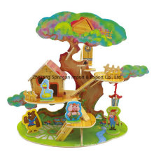 Wood Collectibles Toy for DIY Houses-Tree House