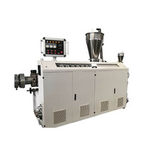 Plastic conical twin screw extruder