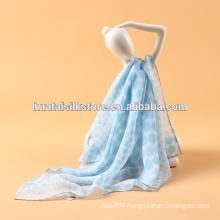 Silk Chiffon Fabric Original Printed fanshion Accessory lady Scarf