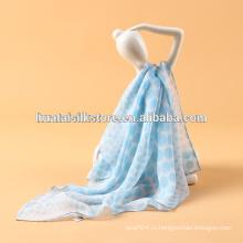 Шелковая шифоновая ткань Оригинальная печатная фанфионная аксессуарная леди Шарф