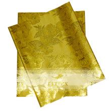 Amarillo más popular serise africana desgaste de la cabeza Diseño más caliente nigeriano sego headtie material en Stock gratis