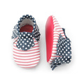 American Stars Stripes Baby Moccasins Fresh Picked