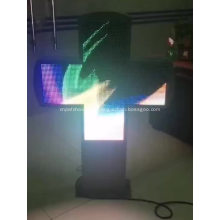 Señal de cruz de farmacia LED programable de farmacia de hospital