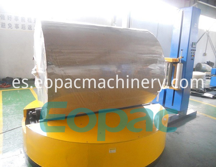 Cylinder wrapping machine
