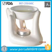 White Hand Ceramic Candle Holder