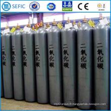 Cylindre sans couture de gaz de CO2 d'acier à haute pression de 80L (ISO267-80-15)