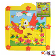 3D DIY EVA foam sticker puzzle toy with photo frame for kids