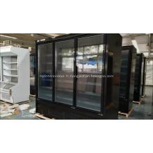 Congélateur de nourriture congelée de supermarché commercial avec la porte en verre