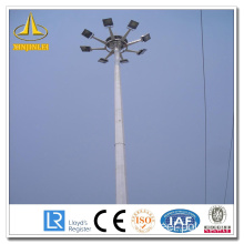 Sliver Otcagonal High Mast Light Pole