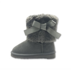 Fashion furry snow kids girls boots factory shoes