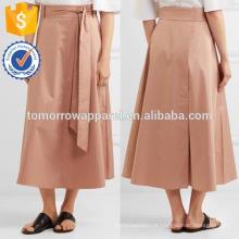 Nova moda algodão-poplin envoltório Midi saia DEM / DOM fabricação atacado moda feminina vestuário (TA5167S)