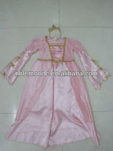 wholesale 2015 hot sale pretty pink color princess dress with crown