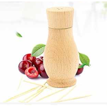 New Fancy Beech Wood Toothpick Holder