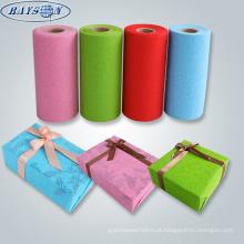 tecido não tecido do teste padrão papel de papel de embrulho impermeável do Natal