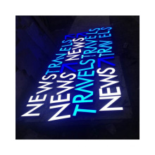 Factory Custom Advertising Front Lit Letters LED Sign Custom LED Storefront Channel Letter Exterior Business Signs
