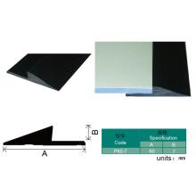 Bande de recouvrement de PVC noir pour le chapeau d'extrémité de tapis de vinyle