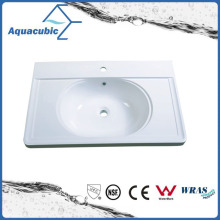 Artificial Marble White Bathroom Sink and Vanity Top Acb8050
