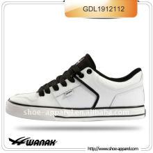 белый PU горячая продажа скейт обувь