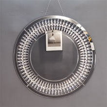 round crystal hanging wall decorative mirrors